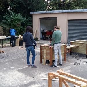 Construction des bacs - 2016