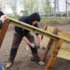 L'agrandissement des jardins partagés Castelnau - 2018