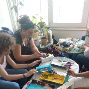 Atelier création de nichoirs à oiseaux en collaboration avec Unis-Cité